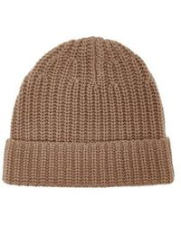 JOSEPH - - Ribbed Knit Beanie Hat - Womens - Camel - Lyst