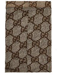 Gucci - Logo-embellished Snakeskin-print Tights - Lyst