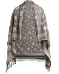 Alexander McQueen - Skull Wool And Cashmere-blend Shawl - Lyst