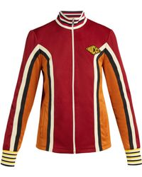 Gucci Gg Technical Jersey Jacket In Blue Lyst
