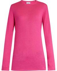 Raey - Long Line Fine Knit Cashmere Jumper - Lyst