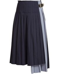 Toga - Pleated Wool Skirt - Lyst