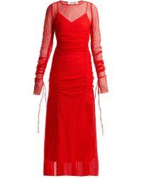 Diane von Furstenberg - Ruched Lace Gown - Lyst