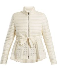 Moncler - Serpentine Quilted Down Embroidered Jacket - Lyst