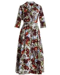 Erdem - Kasia Cotton-poplina Shirtdress - Lyst