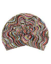 Missoni - Waved Knitted Turban Hat - Lyst