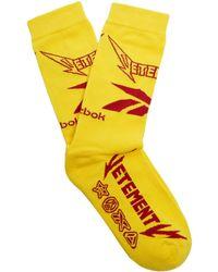 Vetements | X Reebok Metal Cotton-blend Socks | Lyst