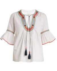 Talitha - Priya Jewellery-embroidered Cotton Blouse - Lyst