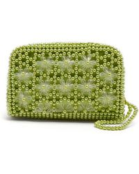 Shrimps | Domenica Faux-pearl Embellished Clutch | Lyst