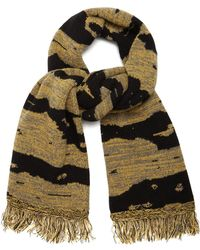 Raey Football Space Dyed Wool Scarf - Multicolor