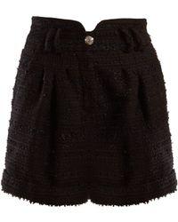 Balmain - Short taille haute en tweed - Lyst