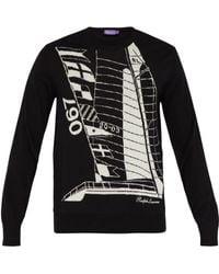 Ralph Lauren Purple Label - Merino Wool Graphic Jumper - Lyst