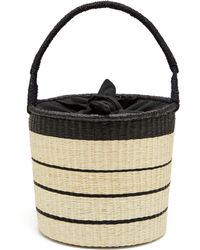 Sensi Studio - Striped Toquilla Straw Basket Bag - Lyst