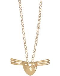 Aurelie Bidermann - Melina Mask Gold-plated Necklace - Lyst