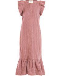 Cecilie Copenhagen - Jehro Scarf Jacquard Cotton Dress - Lyst