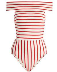 Solid & Striped - The Vera Off-the-shoulder Swimsuit - Lyst
