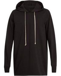 Rick Owens - Sweat-shirt en jersey de coton à capuche - Lyst
