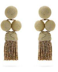 Rebecca de Ravenel India drop clip-on earrings SPMjjtb