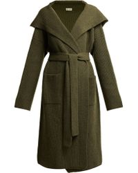 CONNOLLY - Tie Waist Hooded Cashmere Cardigan - Lyst
