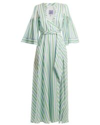 Thierry Colson - Sultane Striped Silk Maxi Dress - Lyst