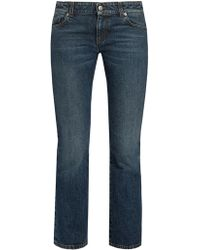 Alexander McQueen - Mid-rise Cropped Kick-flare Jeans - Lyst