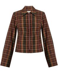 Wales Bonner - Checked Wool Jacket - Lyst