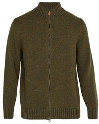 Inis Meáin - Donegal Zip-through Wool-blend Jumper - Lyst