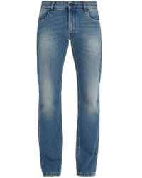 Fendi - Monster And Cat-embroidered Slim-leg Jeans - Lyst