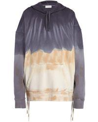 Faith Connexion - Tie-dye Cotton-jersey Hooded Sweatshirt - Lyst