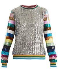 Mary Katrantzou - Magpie Sequin-embellished Crew-neck Sweatshirt - Lyst