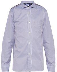 Junya Watanabe - Panelled Cotton Shirt - Lyst