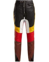Marques'Almeida - Panelled Leather Biker Trousers - Lyst