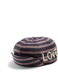 Gucci - Embroidered Striped Satin Cap - Lyst