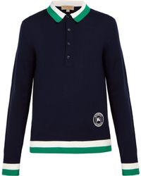 Burberry - Brandon Merino Wool Polo Shirt - Lyst