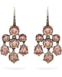 Bottega Veneta - Chandelier Oxidised-silver Earrings - Lyst