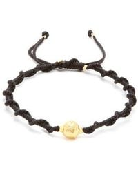 Black Dakini - Gold-vermeil And Cord Bracelet - Lyst