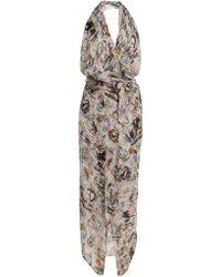 Vivienne Westwood Anglomania - Temperance-print Halterneck Dress - Lyst