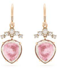 Irene Neuwirth - Diamond, Tourmaline & Rose Gold Earrings - Lyst
