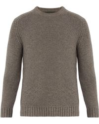 Iris Von Arnim - Crew-neck Contrast-knit Jumper - Lyst