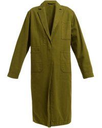 Haider Ackermann - Longline Cotton Oxford Coat - Lyst