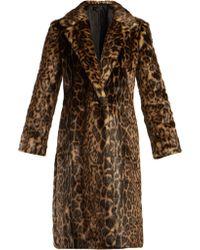 Nili Lotan - Marvin Leopard Print Faux Fur Coat - Lyst
