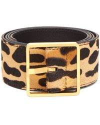 Rochas - Leopard Print Calf Hair Belt - Lyst