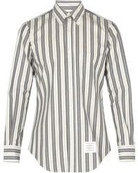 Thom Browne - Striped Cotton Shirt - Lyst