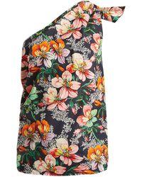 Isabel Marant - Noor One Shoulder Floral Print Top - Lyst