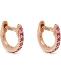Ileana Makri - 18kt Rose-gold & Sapphire Earrings - Lyst