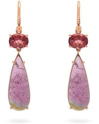 Irene Neuwirth - 18kt Rose-gold And Tourmaline Drop Earrings - Lyst