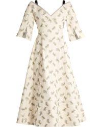 Erdem - Karol Ottoman Cotton-blend Dress - Lyst