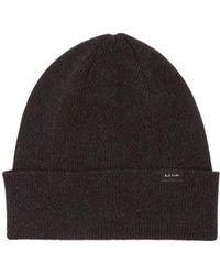 702b4605e1b Paul Smith Men s Damson Lambswool Twisted-yarn Cable Knit Bobble Hat ...