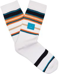 Acne Studios - Striped Stretch-cotton Socks - Lyst
