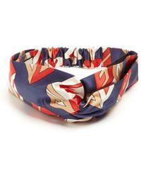 Gucci - Gg Wallpaper-print Silk-satin Headband - Lyst